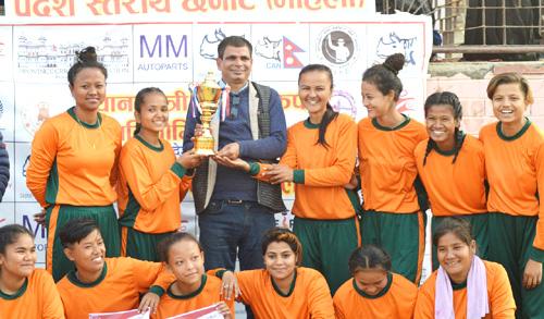 प्रदेश २ महिला क्रिकेटमा महोत्तरी च्याम्पियन