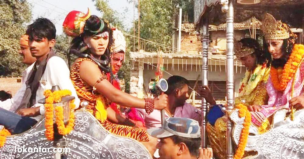 अयोध्याबाट रथ र घोडामा जनकपुरधाम आए जन्ती, विवाह पञ्चमीमा 'तिलकोत्सव' हुँदै